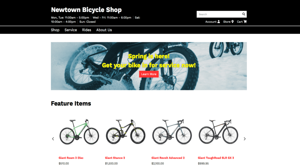 newtown bike shop