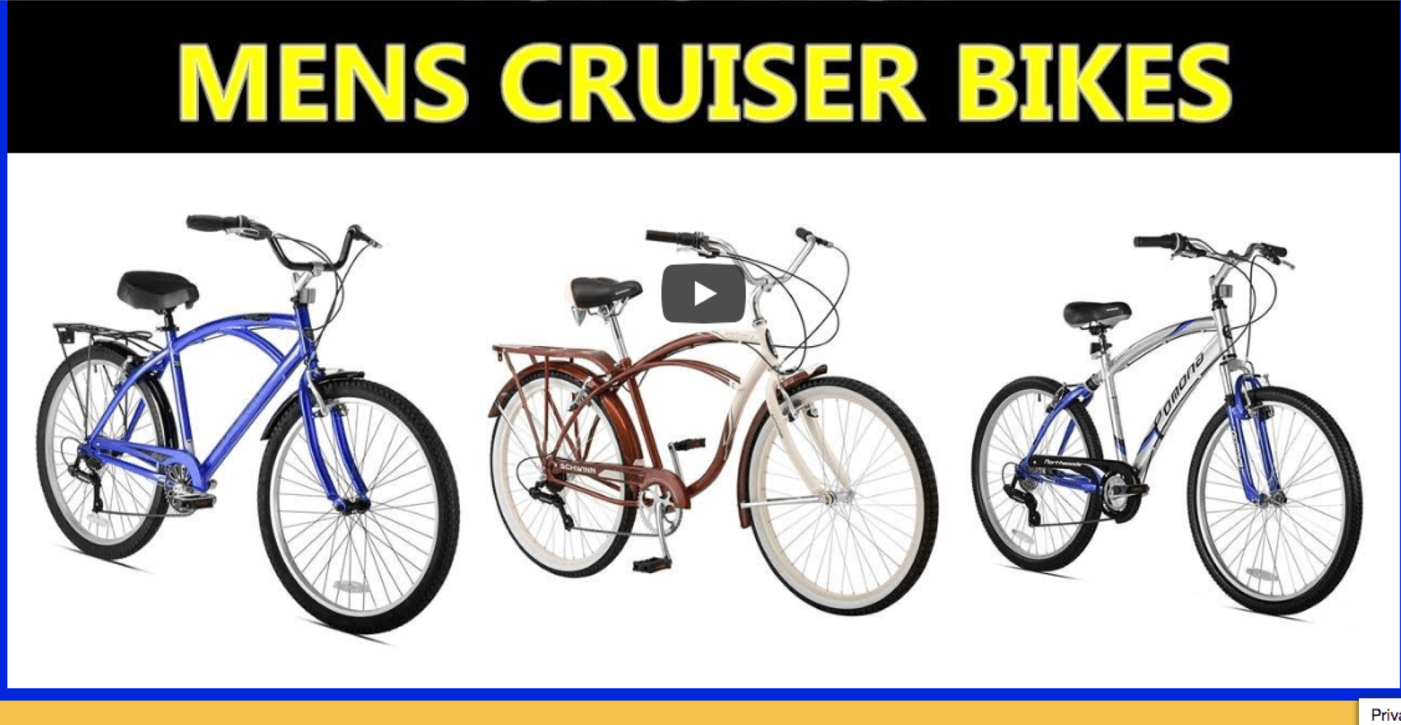 top men's cruiser bikes